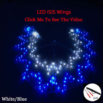 LED Belly Dance Wings Led Belly Dance Accessories LED  isis Wings 360 Degree Bellydance Prop Butterfly Wings Oriental Wing обувь для тибетских танцев butterfly dance 1204