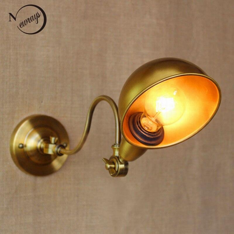 új dizájn klasszikus antik arany állítható fali lámpa, hosszú - Beltéri világítás