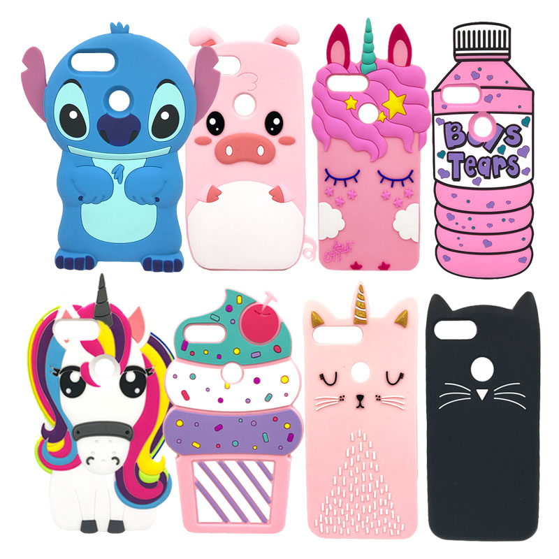 Case For Huawei Honor 9 Lite Silicone Phone Back Cover Stitch Cat Unicorn Soft Silicone Shells For Huawei Honor 9 Youth Edition