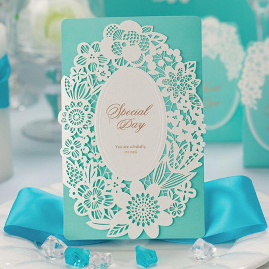 tienda online del miassiy tifany de boda azul estilo vintage de encaje floral serie con los sobres unids envo libre venta al por mayor