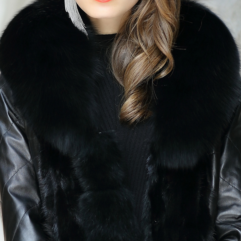 Online Shop Silk's 2015 new winter fur leather jacket, Haining ...