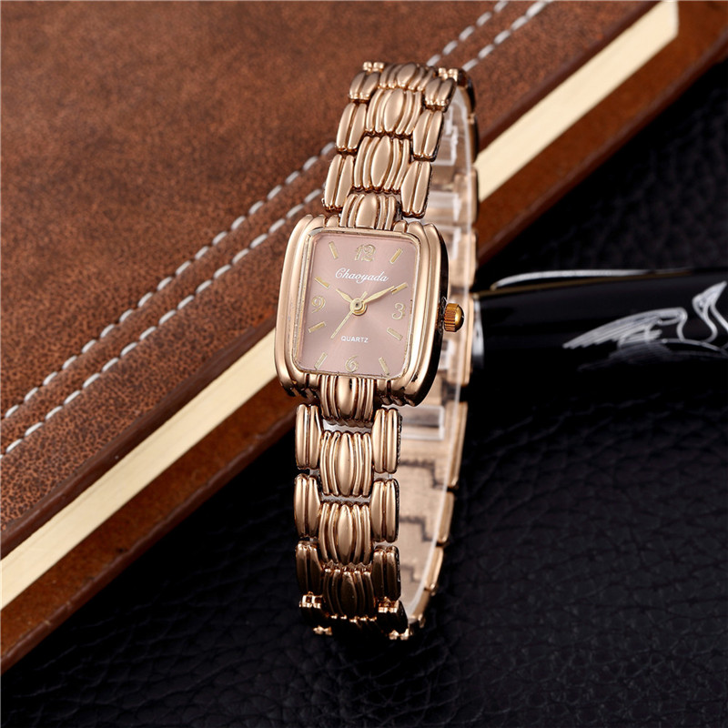 Luxury Women Watches Rectangular Oval Roun Quartz Ladies Watches Stainless Steel Strap Rose Gold  Zegarek Damski