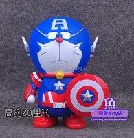 Hot Doraemon Cosplay Avenger Super Hero Wolverine Captain America Classic Comic Anime Robot Cat 9 Figure Toys