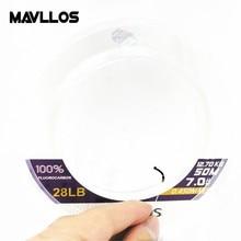 Mavllos 50m 100m Япония Carbon Fiber Monofilament Carp Fly Рыбалка Линия фторуглерода Линия Pwoer 100% Фтороуглеродная рыболовная линия