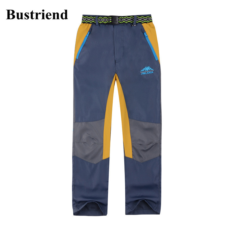 Bustriend Boys Pants 2017 Winter Waterproof Sport Straight Trousers for Kids Boy Children Outdoor Camouflage Clothes Blue 4-6Y boys trackpants kids winter pants children trousers full length boy harem pants children clothing brand boys clothes