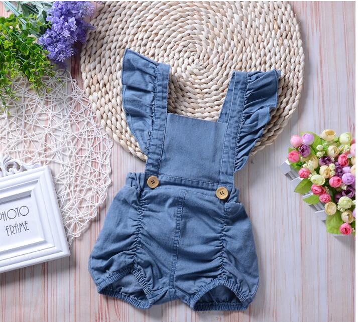 Newborn Baby Romper Clothes 2018 New Summer Sleeveless Infant Bebes Boys Girls Fashion Toddler Kids Jumpsuit Sunsuit