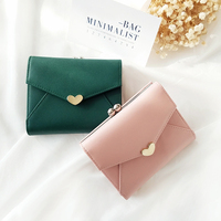 New Small Frame Wallet Girl Sweetheart Metal Hasp Closed Purse Fresh Style Wallets For Lady Cute
