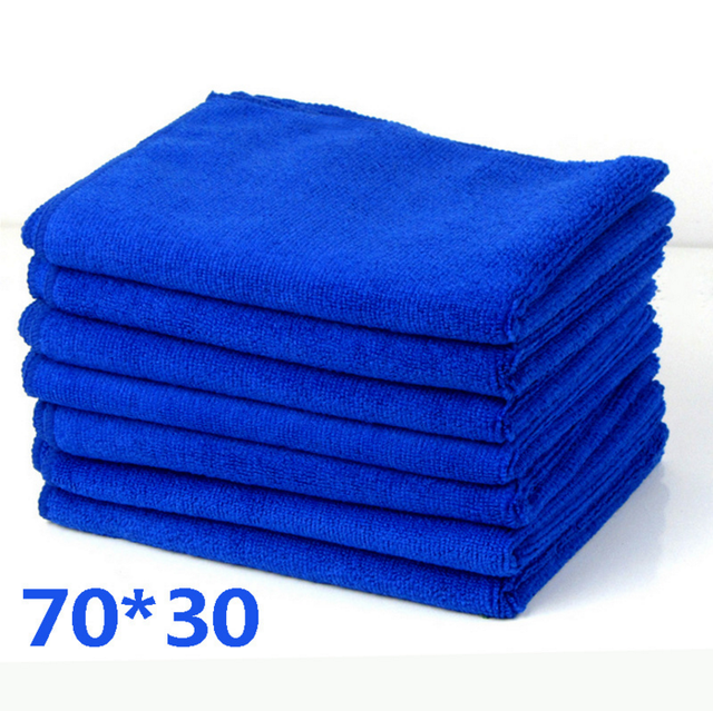 70X30cm Microfibre Towels Wipe Dry Cleaner Auto Car Detailing Soft Cloths Wash Towel Family Hand Towel