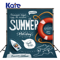10x10ft Kate Cartoon Newborn Photography Background Summer Holiday Photo Go to the Beach Backdrops for Photocall