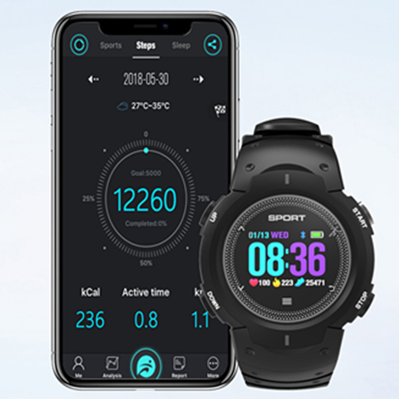 Wearable Devices 696 F13 Smart Watch Waterproof Ip68 Heart Rate Monitor Smart Watch Bluetooth Watch Wearable Wristband Sport Fitness Tracker Came Smart Watches