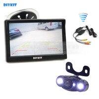 DIYKIT Wireless 5 Inch LCD Display Car Monitor Rear View Monitor LED Night Vision Car Camera