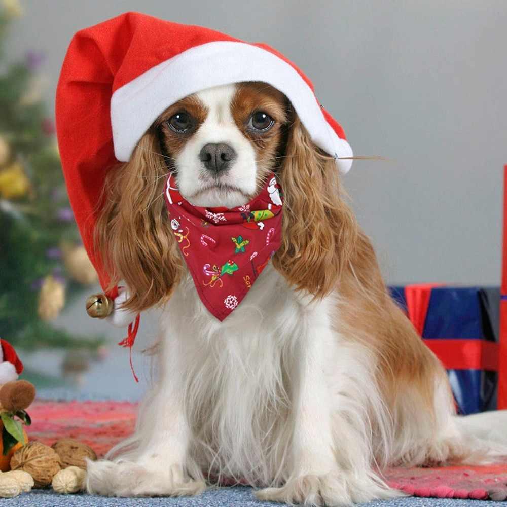 Small Santa Face Christmas Dog Bandana!