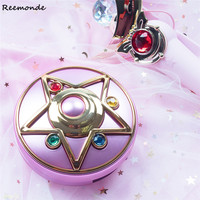Anime Sailor Moon Crystal Moonlight Star Locket Compact Power Bank Portable Charger Cosmetic Mirror Light Gift Cosplay Accessory