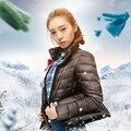 Capa de la chaqueta de invierno 2016 nueva white duck down abrigos Mujer delgada de Las Mujeres abajo parkas pato abajo de la capa exterior más el tamaño S-XXXL 4XL