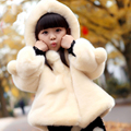 NEW ARRIVAL Children's clothing female long-sleeve child clothing winter thicken faux fur coat girls thermal wadded jacket top