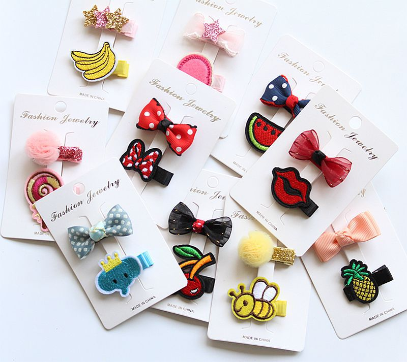 kawaii girls hair clips bows pin hairclip hairpin accessories for children girls kids hair barrette ornaments headdress headwear 7pcs suit korean version of the new hairpin butterfly knot polyester ribbon headdress set hair accessory headwear hairclip q 11