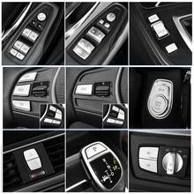 Стайлинга автомобилей интерьера кнопки блестки украшения крышки отделкой Стикеры наклейки для BMW F30 F34 серии 3/4 GT авто аксессуары