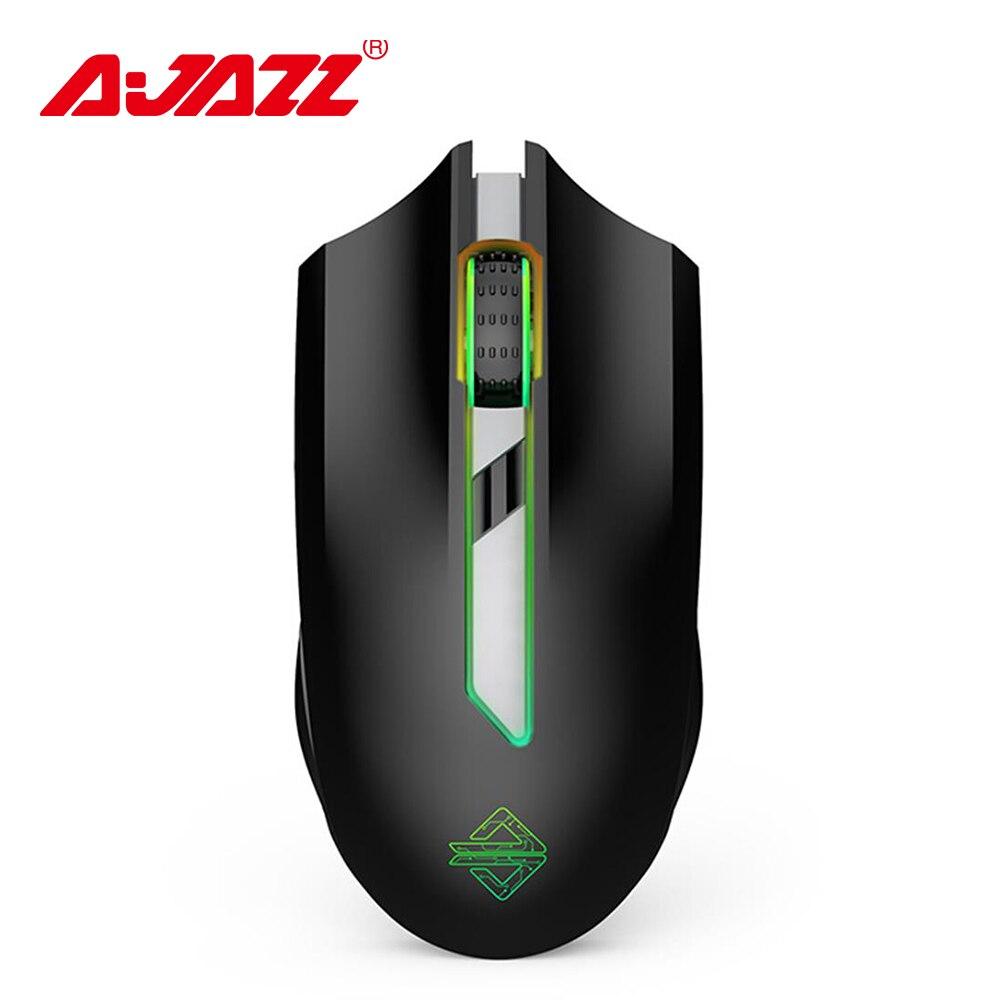 Ajazz AJ302 Pro souris 2.4G sans fil double Mode souris RGB coloré éclairage souris de jeu Gamer 5000 DPI réglable Rechargeable