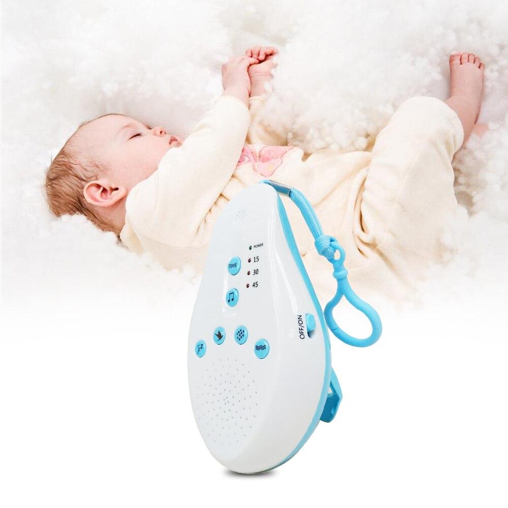 Baby Schlaf weiß noise maschine Schnuller Sound Rekord Stimme Sensor mit 8 Beruhigende Sound Auto-off Timer Baby monitor