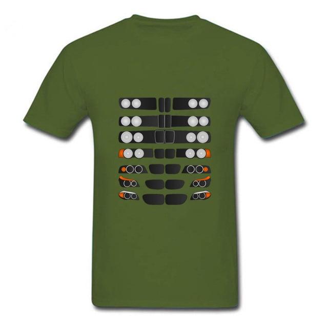 T Shirts Funny Car 3 Series Evolution Men's Summer Tops Short Sleeve Clothing Tee Classic Men Cool T-Shirt Male Super car tee