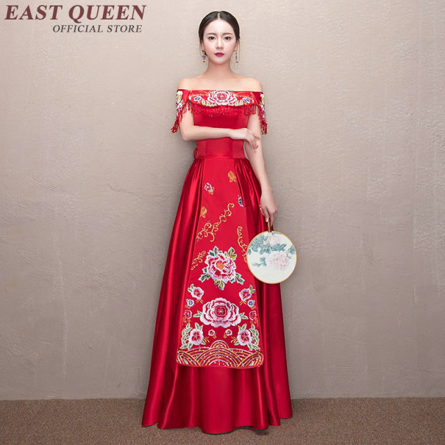 Chinese Wedding Dress.Traditional Chinese Wedding Gown Fashion Dresses