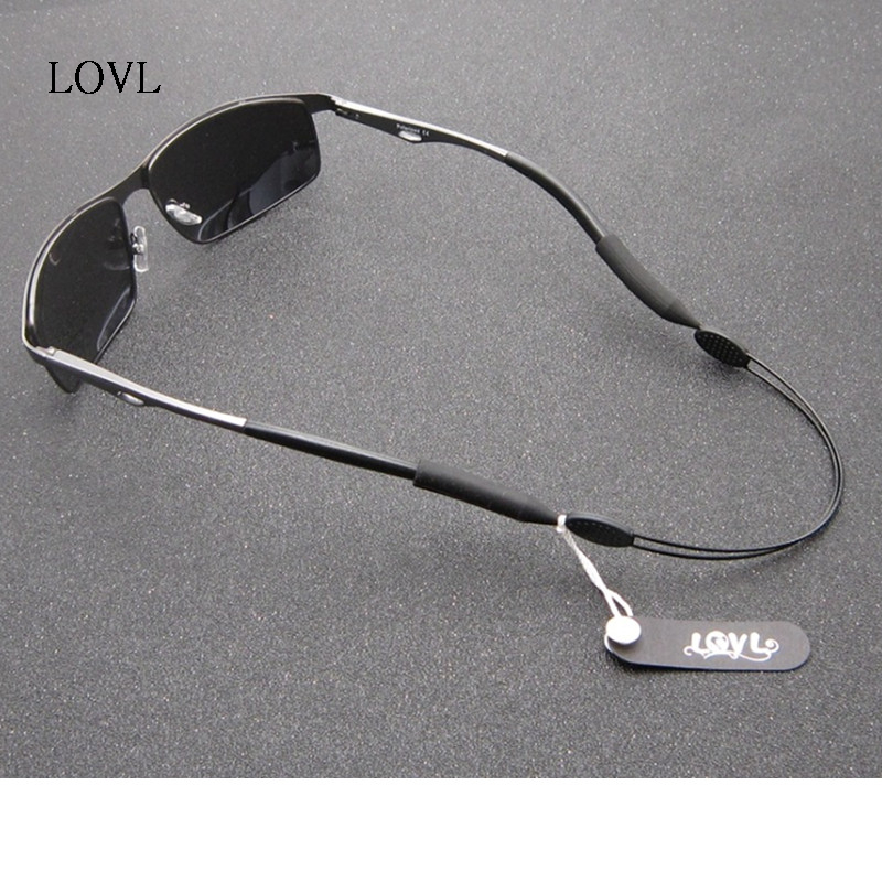 Black Adjustable Stainless Steel Nylon Silicone Glasses Cord Strap Non-slip Eyewear Cords Holder Chain String