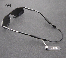 Black Adjustable Stainless steel Nylon Silicone Glasses Cord Strap Non-slip Eyewear