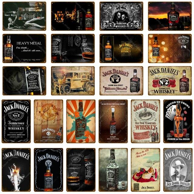 Retro Ice Lạnh Jennessee Whiskey Kim Loại Dấu Hiệu Bia Rượu Vang Cổ Điển Sơn Tường Áp Phích Dán Pub Bar Casino Trang Trí Nội Thất Art quà tặng