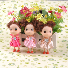 new lovely 12pieces/lot pvc 12cm doll Grils toy cartoon Christmas gift  pendant wedding gift decorations