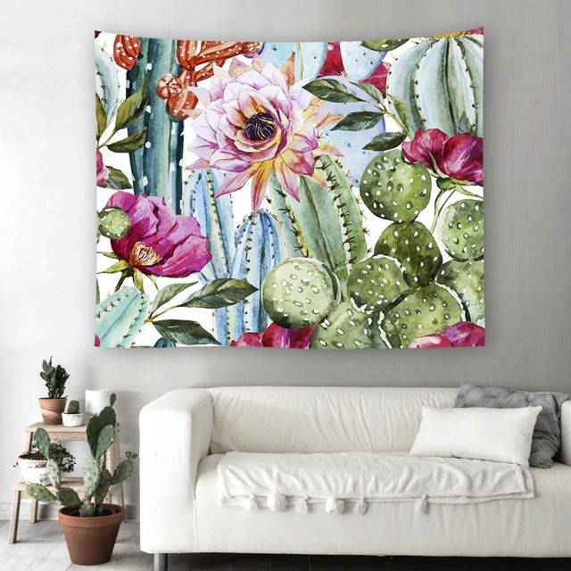 Marvelous Cilected Plant Cactus Wall Tapestry For Home Decor Sofa Cover Wall Art  Tapestry Hippie Carpet Beach Cover Cactus Decoration