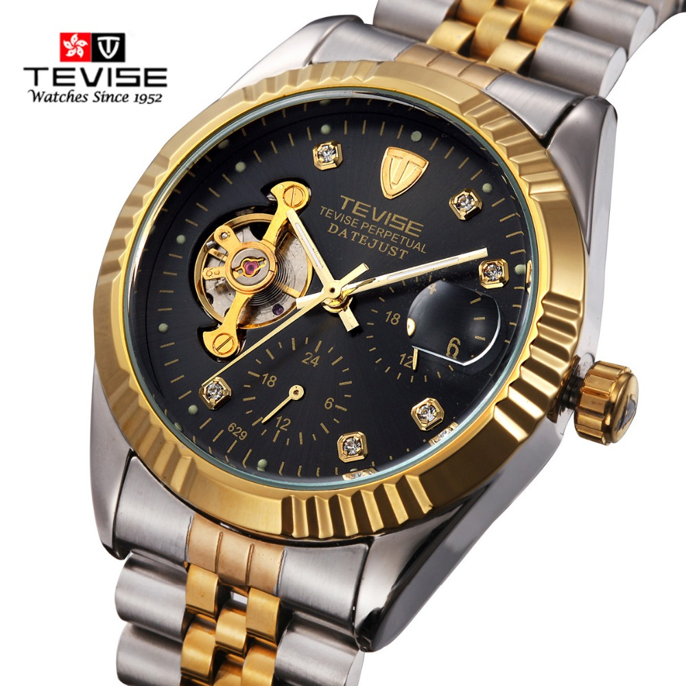 TEVISE Business Watch Men Mechanical Watches Man Automatic Winding Top Brand Luxury Wrist Watch Relogio Masculino waterproof reloj hombre 2017 mens watches top brand luxury automatic mechanical watch waterproof business wrist watch men relogio masculino