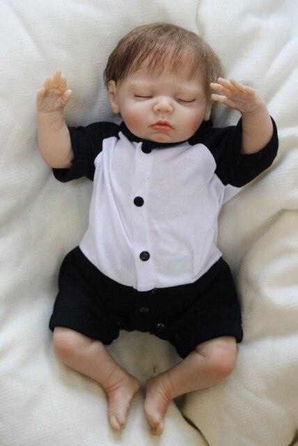 Soft Vinyl Reborn Baby Boy Dolls So Truly Real Newborn Sleeping