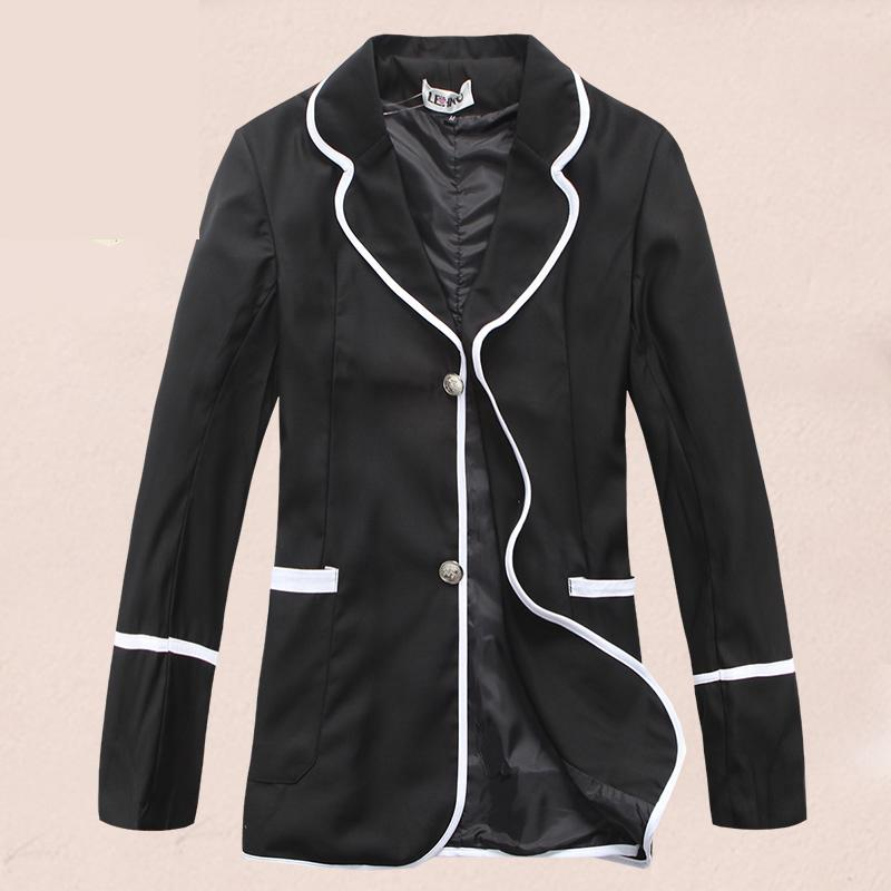 New Korean Mens Fashion Blazer Boys Students Casual Suit Jacket Male Blazers Men Coat Japanese Leisure School Uniform Coat Black