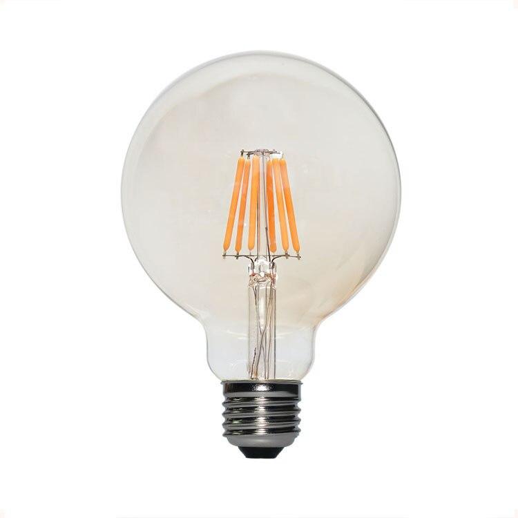 Lampade E27 A Led.Retro Edison Glass Led Bulb E27 4w 6w 8w Led Bubble Ball