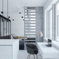 10Pcs 거울 벽 스티커 벽 장식 Decals 침실 홈 장식 룸 스트라이프 사각형 형상 간단한 모양 타일 R189