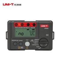 UNI-T ut502a 절연 저항 메그 옴 미터 전압계 2500 v 테스트 연속성 테스터 (lcd 백라이트 포함)
