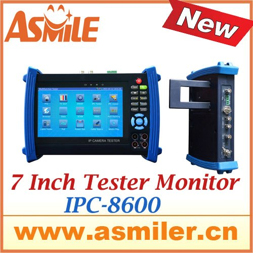 dhl free shipping 7Inch TFT-LCD touch screen CCTV Tester for IP camera , analog camera , HD SDI camera from asmile