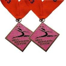 2018 hot gymnastics medal high quality square paint  k200229