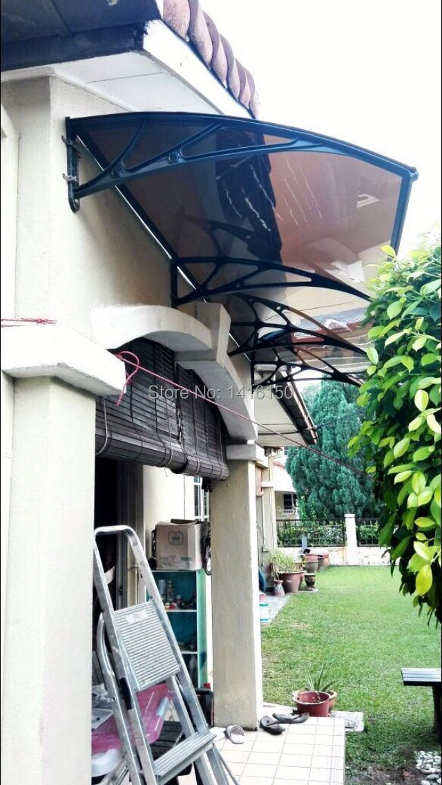 Engineering Plastic Bracket+Polycarbonate Sheets Door Canopy Awning-in Awnings from Home \u0026 Garden on Aliexpress.com | Alibaba Group & DS120300 P120x300CMDeep 120cmWide 300cm.Engineering Plastic ...