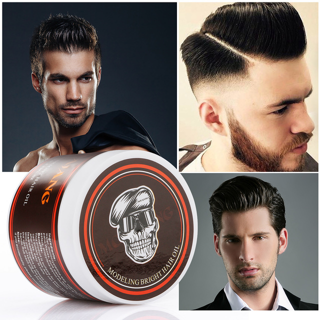 Hair Styling Oil Men 120G Professional Hair Wax Pomade Hair Pomade Styling Wax Skeleton .