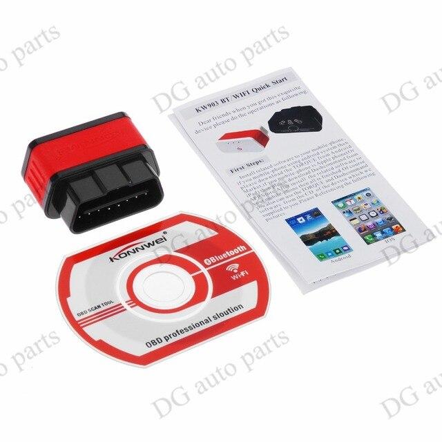 KONNWEI KW903 Car Auto ELM327 Bluetooth OBD2 OBD-II CAN-BUS Diagnostic Scanner