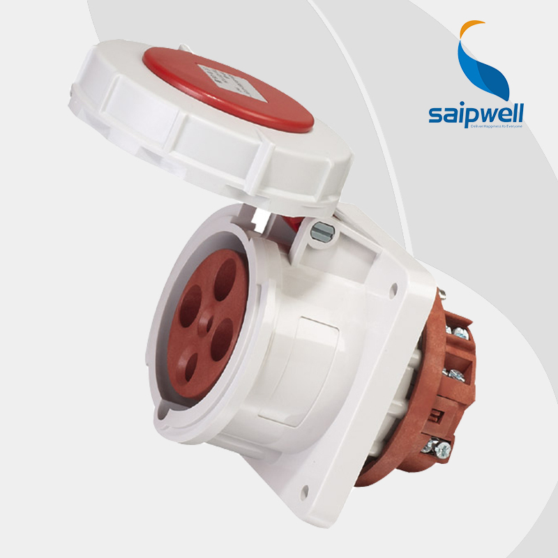 цена на Wholesale Saipwell 4P (3P+E) 400V 63A IP67 EN / IEC 60309-2 industrial electrical socket female industrial socket SP1124