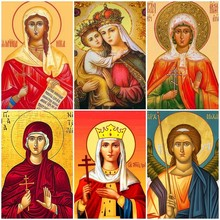 Evershine Diamond Painting With Square Stones Religion Mosaic Full Display Icons Rhinestones Pictures