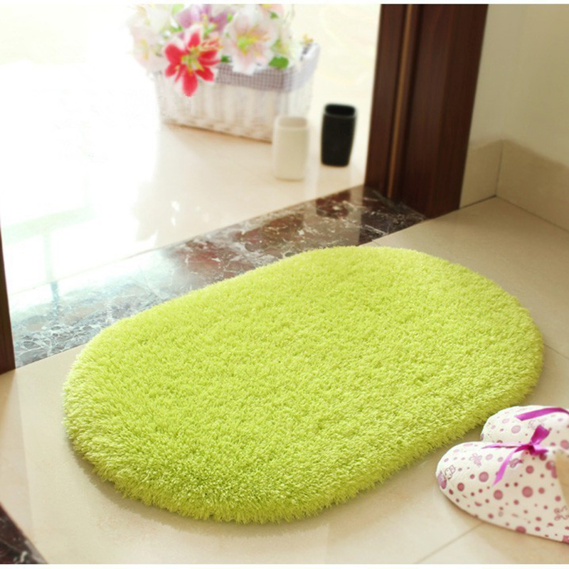40*60 Plush Fabric Anti-slip Mat Thick Floor Carpets For Living Room Plain Color Bathroom Water Absorption Floor Rug Mat