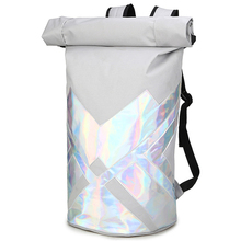 Backpack Laser Knight Mens Travel Student Bag Large Capacity Roll Cover Drum