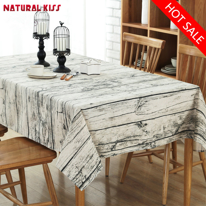 Christmas Table Cloth Cotton Linen Lace Edge Elegant