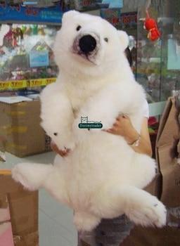 Dorimytrader Giant Simulation Animal Polar Bear Plush Toy Stuffed White Pillow Doll Gift Present 39inch 100cm DY60307