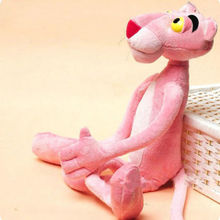 Fashion Cartoon leopard Pink Panther Stuffed Animal Plush Baby Toy Kid Doll Gift 38cm cute