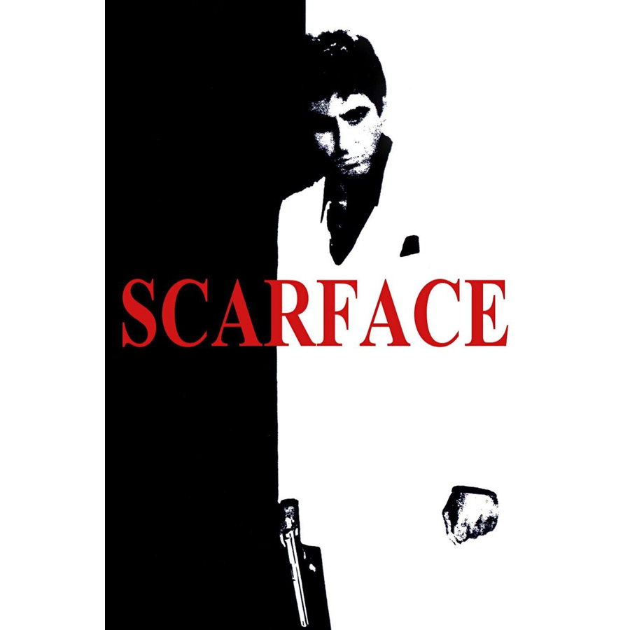 Scarface money power respect vinyl wall decal for home decore - J0635 Al Pacino Scarface Movie Pop 14x21 24x36 Inches Silk Art Poster Top Fabric Print