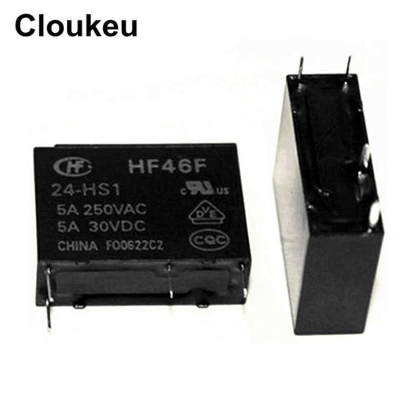 HF46F-24-HS1 24 V 5A リレー DIP4 G5NB AC5N ALDP